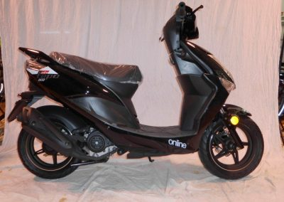 (Nr. 1) Motorroller Online Tapo Eco 45 km/h in glänzend schwarz